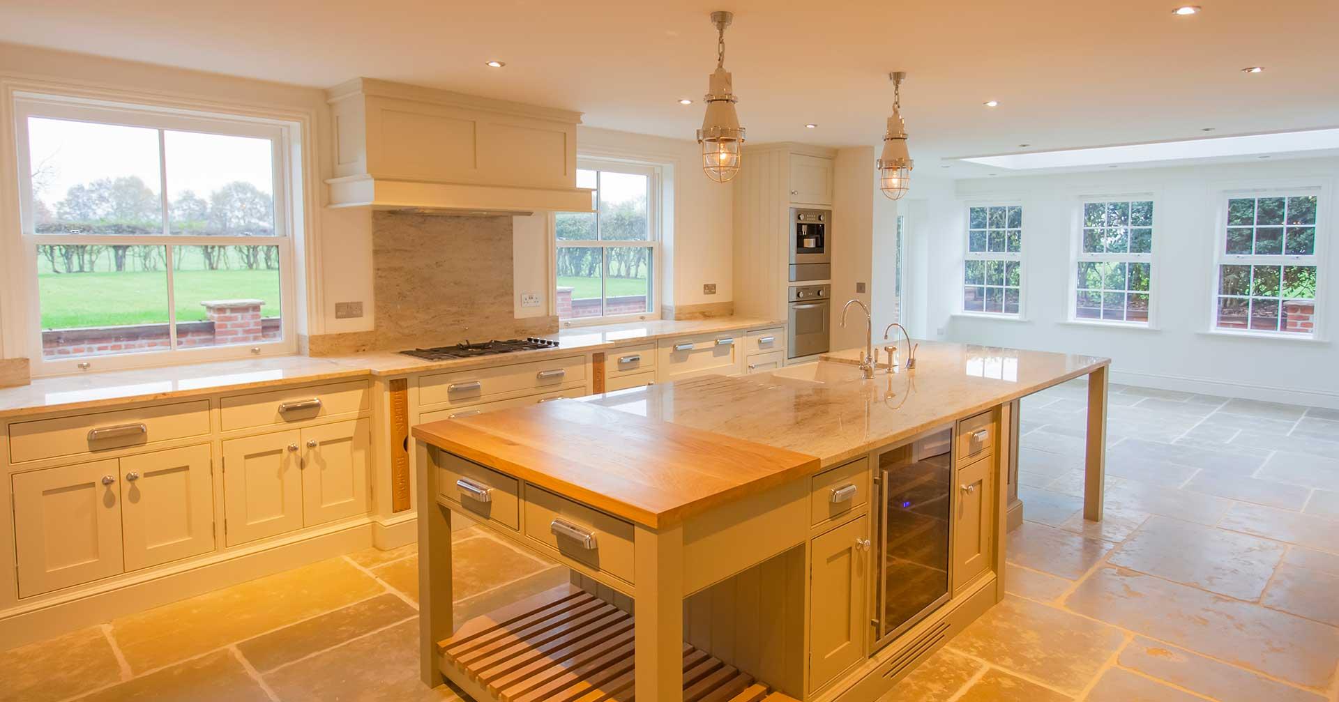 Blackhill Farm interior, bespoke kitchen